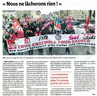 Presse de la Manche du 8/12/2019