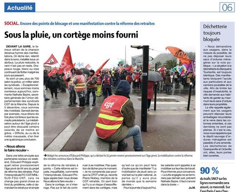 Presse de la Manche du 15/01/2020