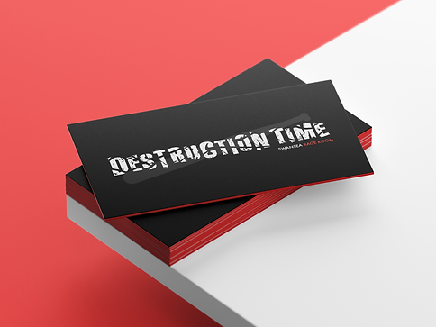 business card mock up destruction time.p