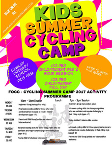 Kids Summer Cycling Camp