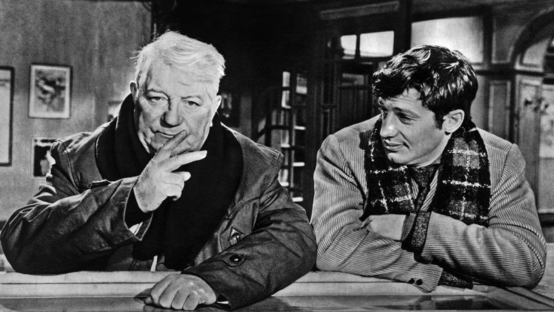 Jean Gabin et Jean Paul Belmondo dans Un singe en hiver (1962). Rue des Archives/Ital