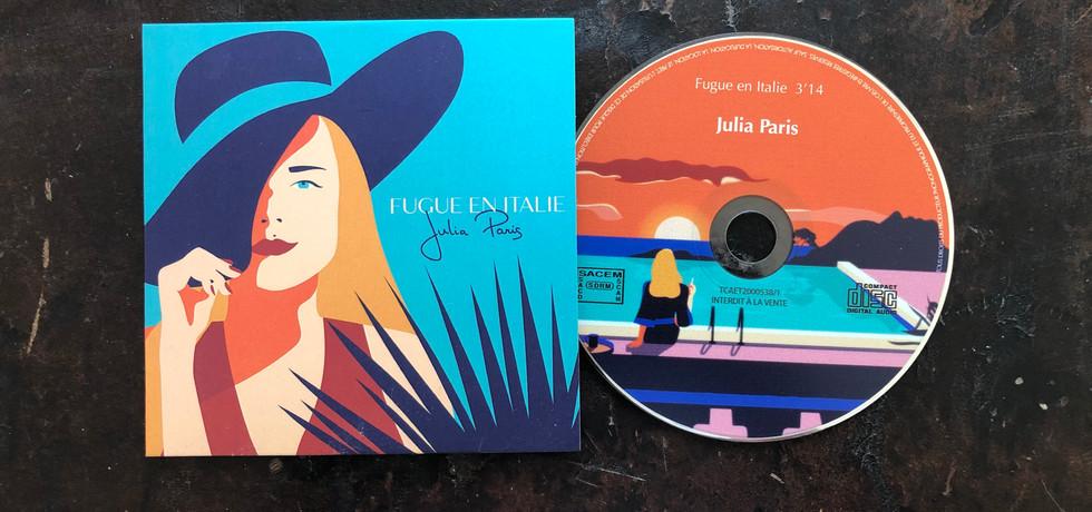 """CD de """"Fugue en Italie"""" dédicacée"""