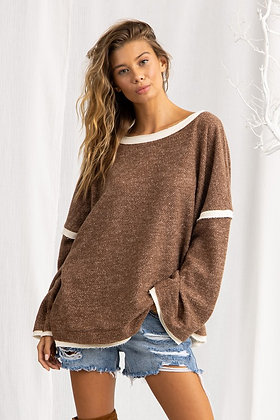 Mocha Me Fleece Sweater