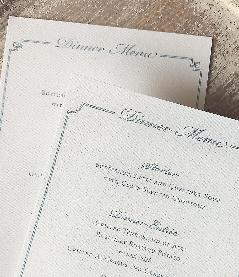 You can use different borders to display your guests' entree selections to the catering staff.