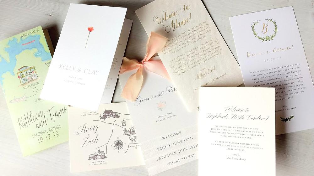 Welcome your wedding guests with an itinerary and welcome note
