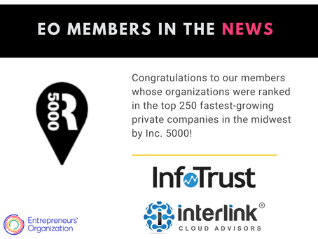 Two EO member organizations ranked in the top 250 fastest-growing private companies in the midwest!