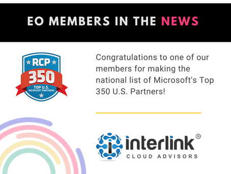 One of our members has been listed on Microsoft's Top 350 U.S. Partners!