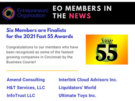 Six of our members are finalists for 2021 Fast 55!