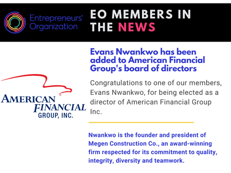 Evans Nwankwo has been added to American Financial Group's board of directors