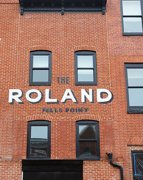 Mixed use apartments in The Rolland at Fells Point.