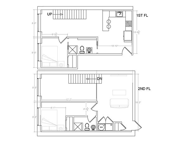 Unit 201: Two Bedroom/Two Bathroom
