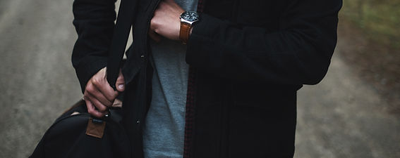 Muž módní hodinky