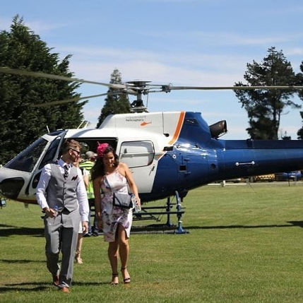 Arriving in style with Independent Helicopters Ltd - charter helicopter flights in Christchurch and Canterbury
