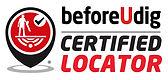 BeforeUDig Certificed Locator logo - Safety First Locators Christchurch