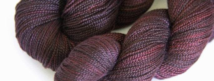 Blackbirds in Flight - 4 ply in Mulberry silk