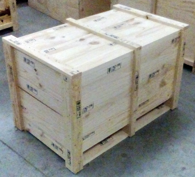 Tall timber crate