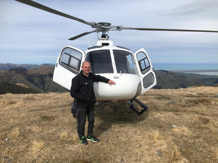 80th birthday helicopter flight with Independent Helicopters Ltd - scenic helicopter flights in the South Island, NZ