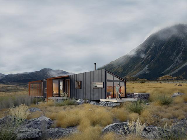 Alpine Hutt architectural design by Barry Connor, Christchurch architect