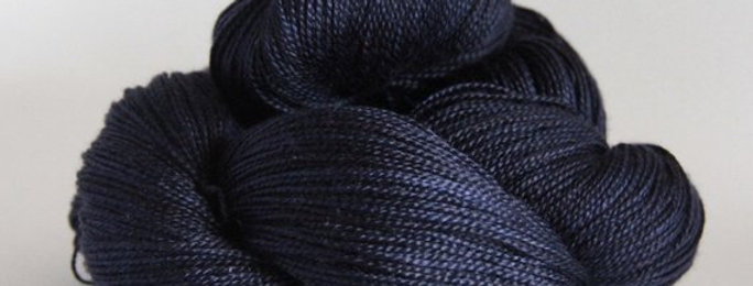 Dreams of a Starry Night - 4 ply in Mulberry silk