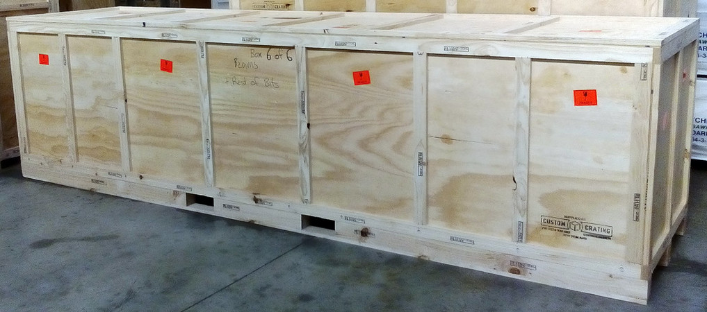 Crate for large & heavy machinery.