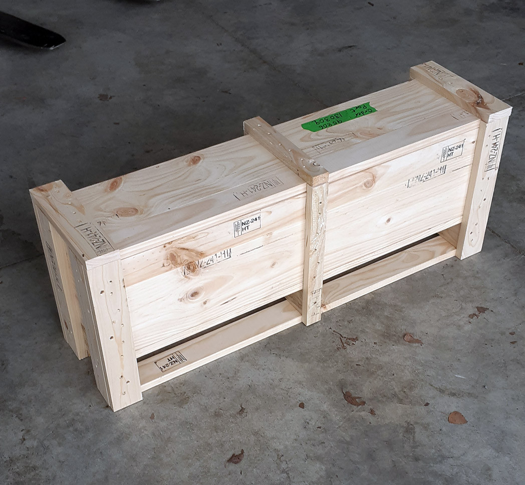 Small timber crate
