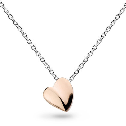 Miniature Sweet Heart Rose Gold Necklace