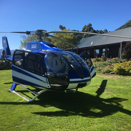 Winery tour with Independent Helicopters Ltd - scenic helicopter flights in the South Island, NZ