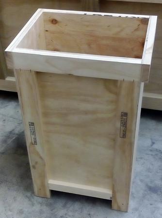 Sculpture crate.