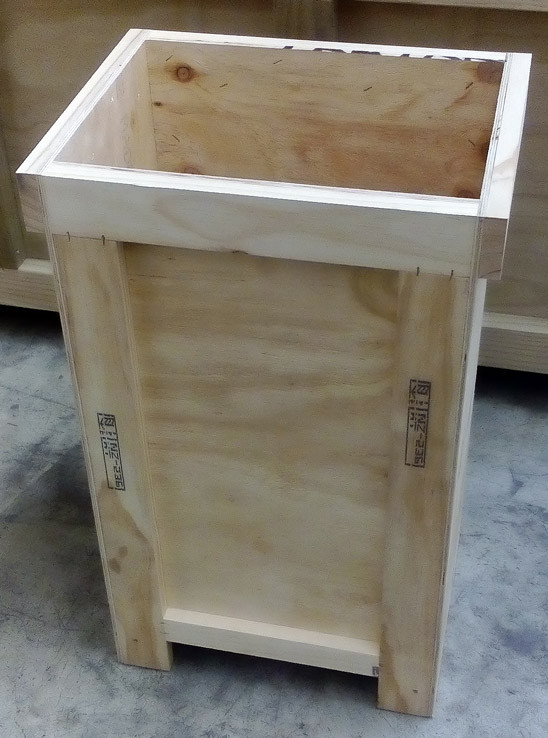 Sculpture crate.