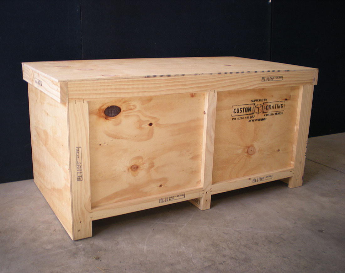 Small plywood crate