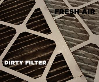 clean vs dirty HRV filter