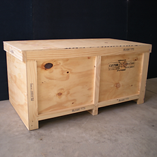 Plywood shipping crate made by Custom Crating NZ