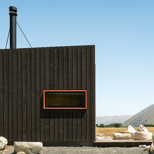 Private outdoor living at Skylark Cabin luxury accommodation in Twizel NZ