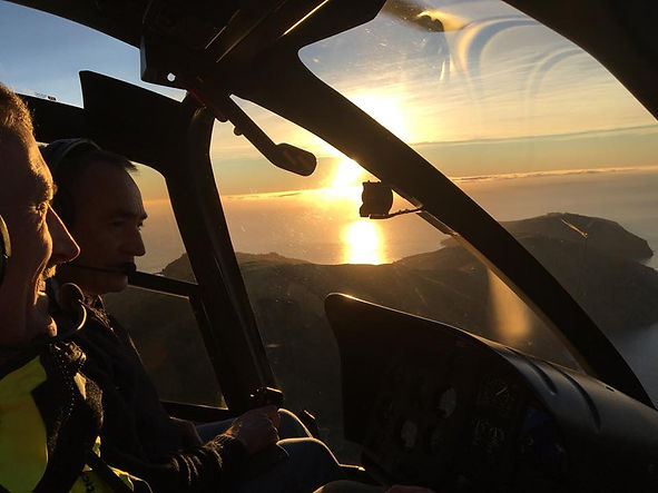 Taking in the scenery with Independent Helicopters Ltd - scenic helicopter flights in the South Island, NZ