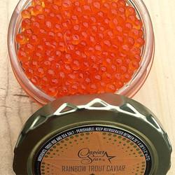 Rainbow Trout Caviar_•_•_#caviar #caviargold #trout #troutfishing #rainbowtrout #fancy #fancydinner