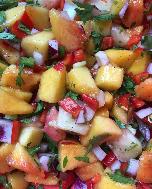 Have a Peachy Day! 🍑 _Peach salsa is one of my favorite summer time treats