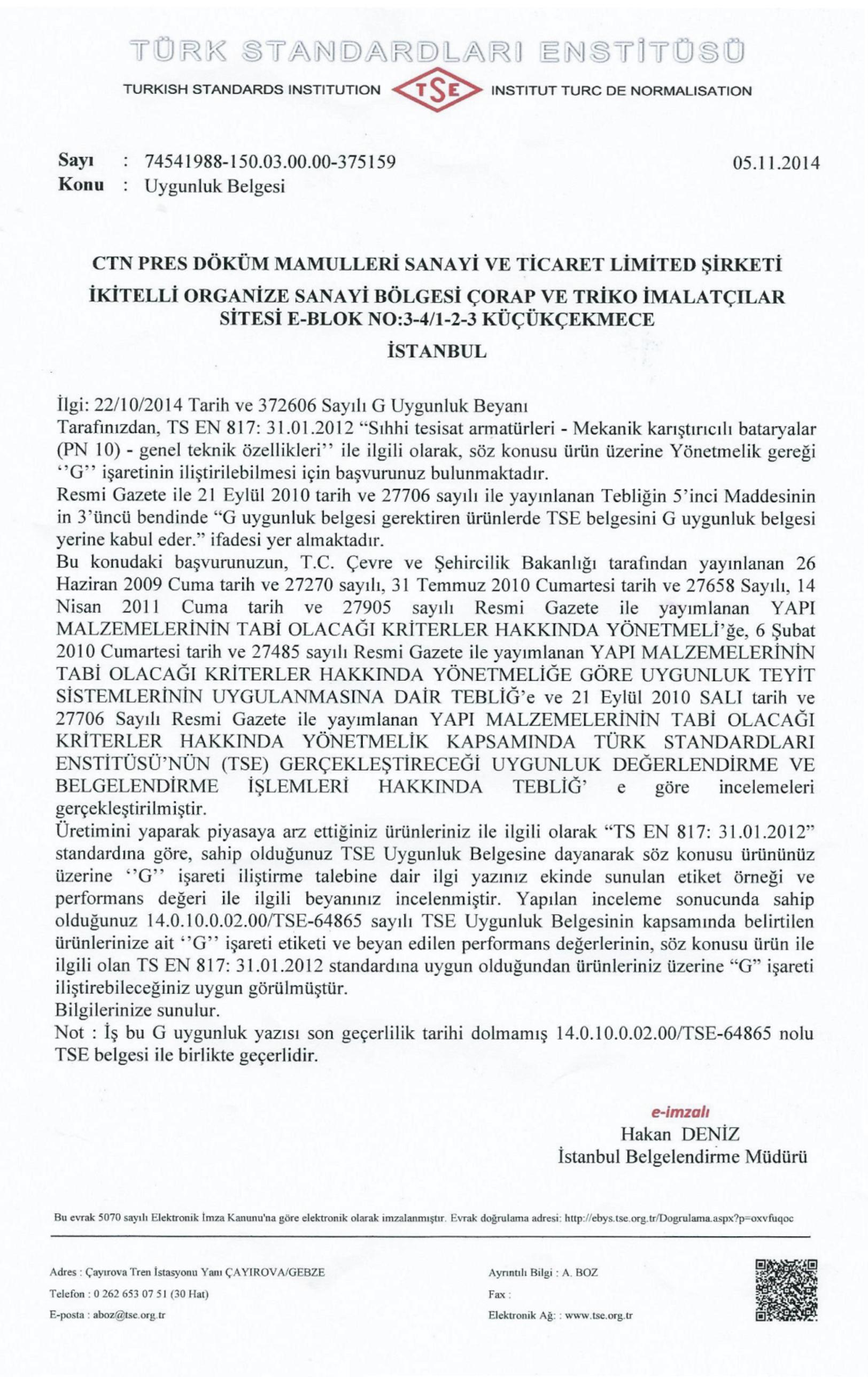 Ctn Pres Dokum Mamulleri San Ve Tic Ltd Sti