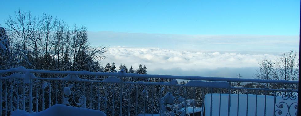 Blick auf ein Wolkenmeer