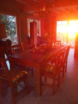 Sonnenuntergang im Haus