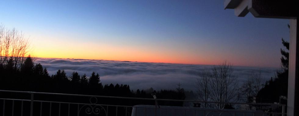 Sonnenuntergang am 24. Dezember