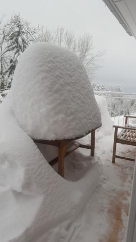 1,2 m Schnee