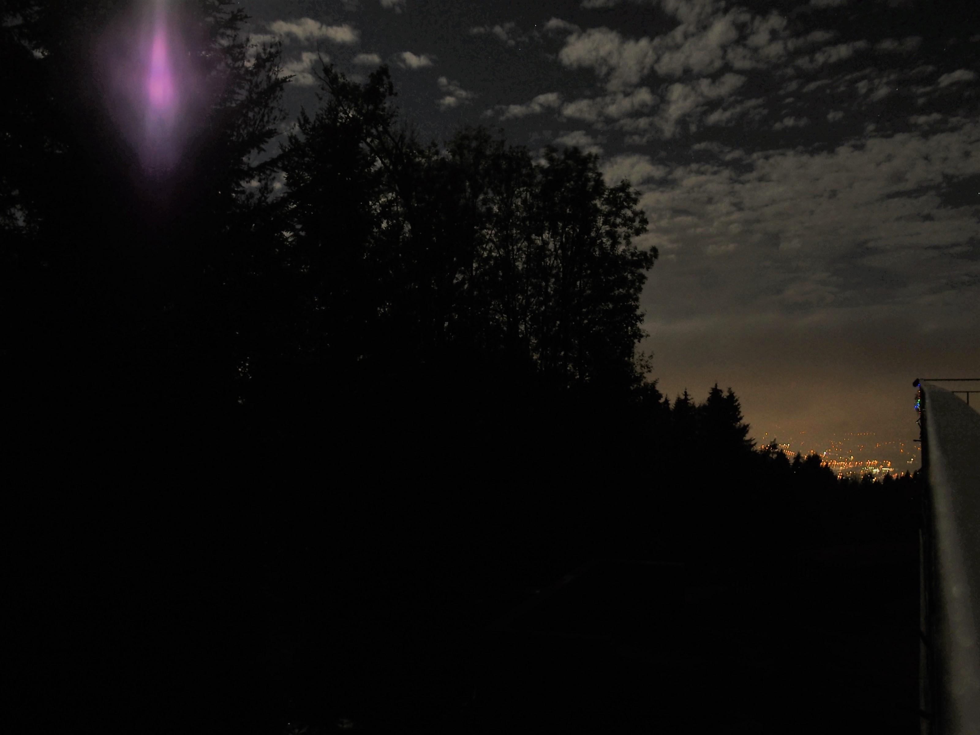 Nachts beim Schwedenhaus
