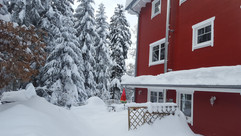 Winter 2019, mit 1,2 m Schnee