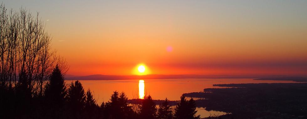 Sonnenuntergang bei Konstanz