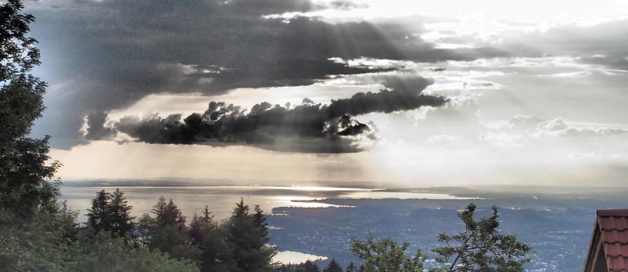 Wolken über Bodensee