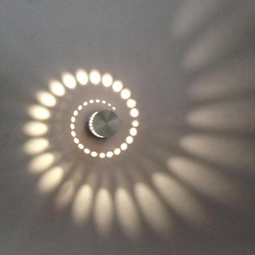 Applique Murale Interieur LED Effet Moderne 3W Blanc Chaud en Aluminium Lampe