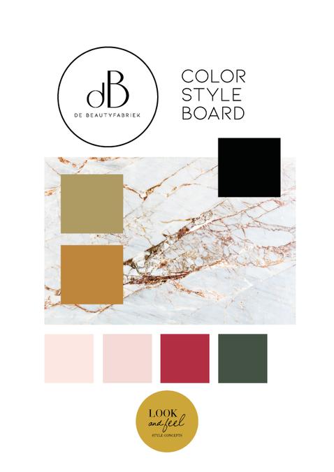 Color Styleboard De Beautyfabriek Doetinchem