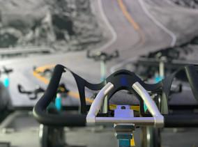 Detail spinningfiets, sfeerbeleving Ketelaar Sport Ulft.