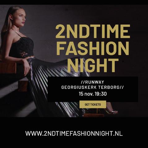 Social media template 2NDTIME Fashion night.