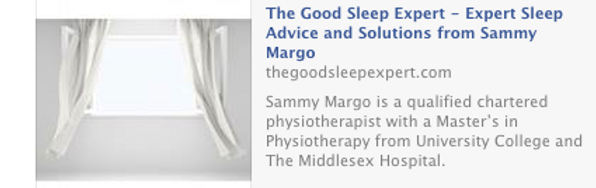 Exprt sleep advice from Sammy Margo